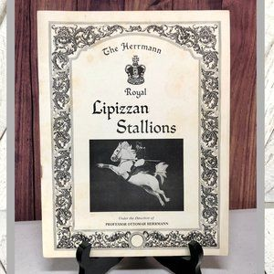 Vntg Herrmann Royal Lipizzan Stallions Pamphlet